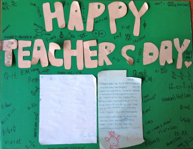 Happy Teacher's Day From Zehui Chung Cheng Main