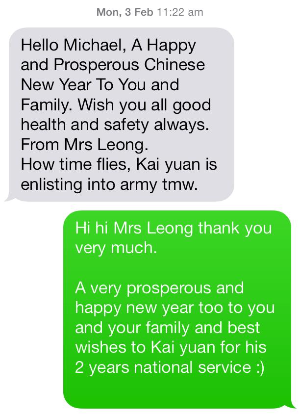 Mrs Leong - Parent of SAJC